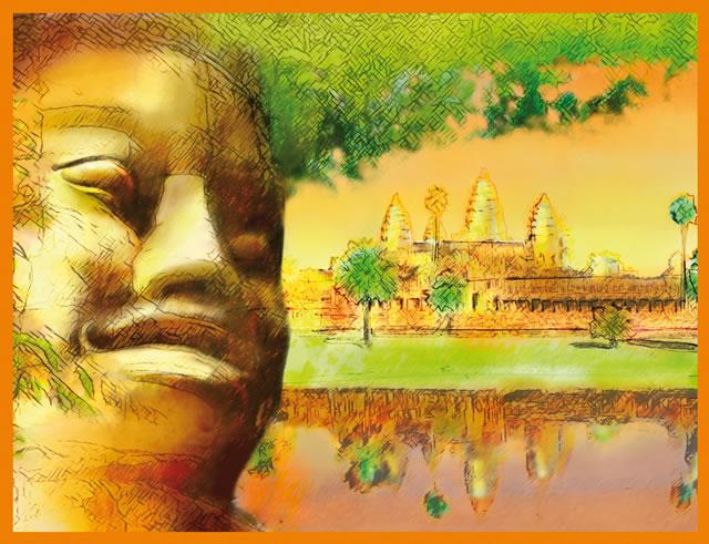création illustration Haudecoeur Riz cambodgien Angkor -Sans Exception