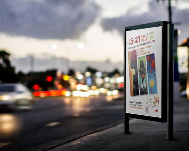 sublimer les affichages urbains exposition de peinture 1 pao web video paris 06.8528.9977