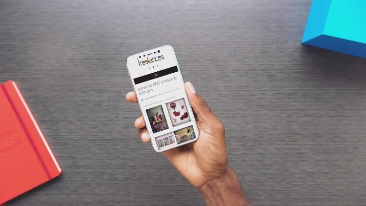 conception site web adaptatif capture écran sublimer présentation responsive web design iPhone 8e