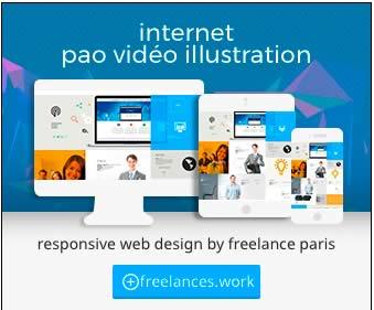 création bannière internet HTML5 animée photoshop freelances.work 0685289977 Paris France pao web vidéo illustration 39284271cc10f