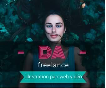 création bannière internet HTML5 animée photoshop freelances.work 0685289977 Paris France pao web vidéo illustration 95161591ze10da