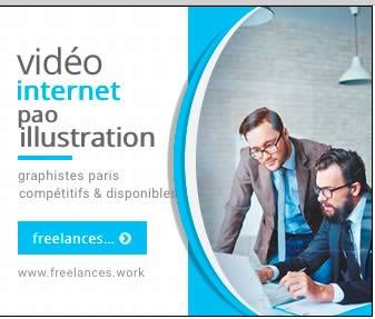 création bannière internet HTML5 animée photoshop freelances.work 0685289977 Paris France pao web vidéo illustration 99109451cc10f